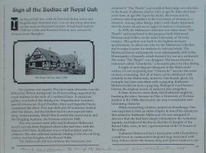 Sign of the Zodiac at Royal Oak 1
