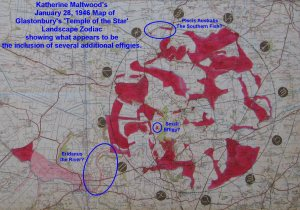 KEMs January 28, 1946 Map of Glastonbury's Temple of the Stars